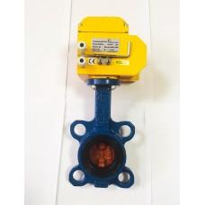 Затвор дисковый поворотный Tecofi VPI4448  с электроприводом DN-003 220В (Ду50 Ру16)