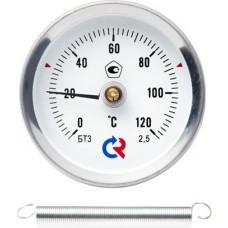 Термометр биметаллический БТ-30.01;  с пружиной,