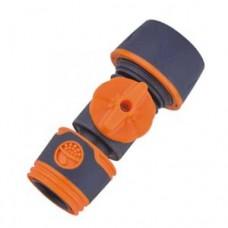 Коннектор с краном  мягкий пластик  (5003Е)*