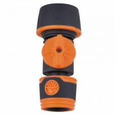 """ППГ- 000014 Соединитель с регулировкой давления , для соединения  шланга 1/2"""", 5/8"""", 3/4""""; плас"""