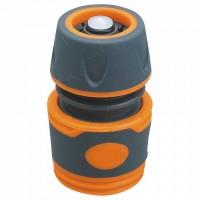 """ППГ- 000021 Соединитель с аквастопом 1/2"""" , быстросъемный, пластиковый корпус с резиновыми вставками."""