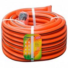Шланг поливочный  (20м) Гидроагрегат оранжевый с полосой (фитинг в подарок)