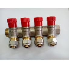 Коллектор мп никель Faro рег/клап красн 6490 STC