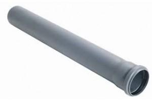 Труба PP-H  сер б/н в/к  (Дн50х1,8 L=0,5м)